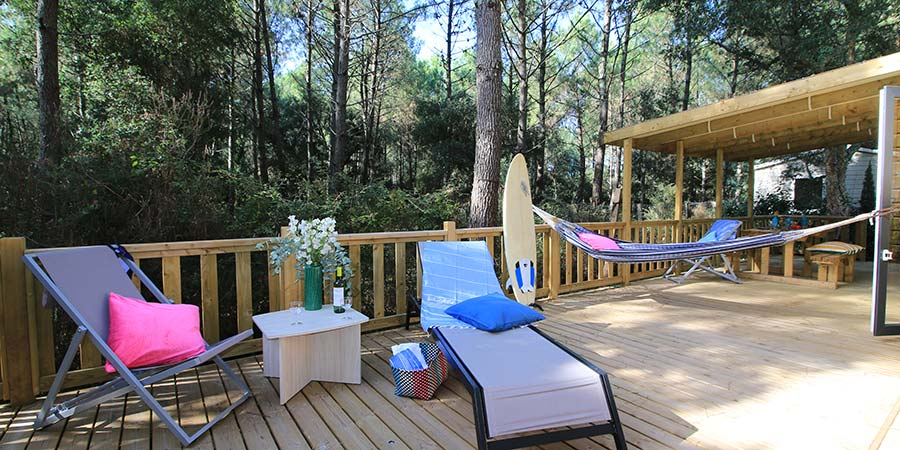 Camping Blue Océan terrasse chalet