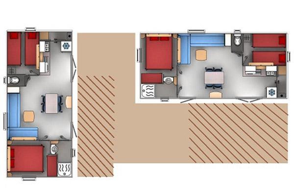 Hébergement Premium Super Cosy 8/12 pers. - camping Blue Océan