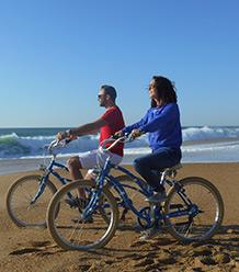 location de vélo pur des balades sur la plage