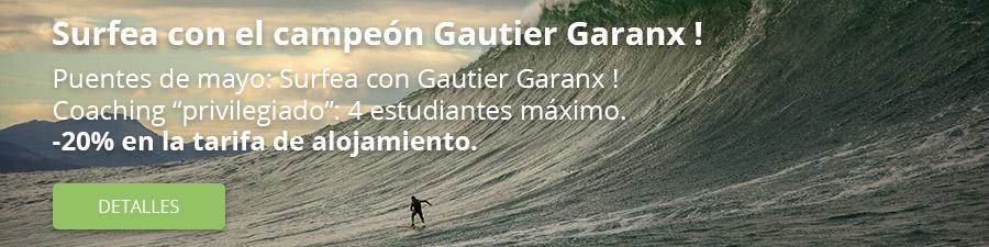 Surfea con Gautier Garanx