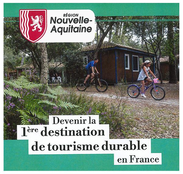 Nouvelle Aquitaine 1ère destination de tourisme durable en France
